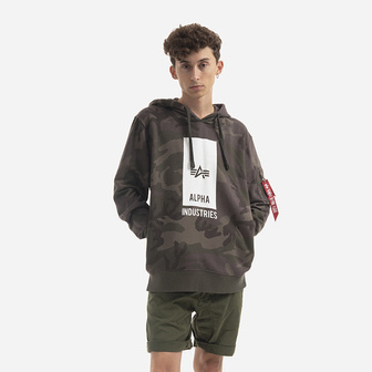 Alpha Industries Black Logo Hoody 126346 415