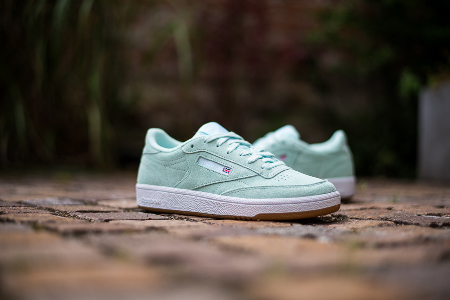 Scarpe da donna sneakers Reebok Club C 85 CN5201 sneakerstudio-it grigio Pelle