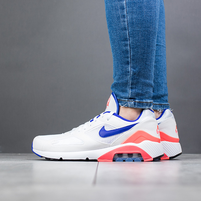 NIKE Air Max 180 Women Scarpe Sneaker Donna White Ultramarine Red ah6786100