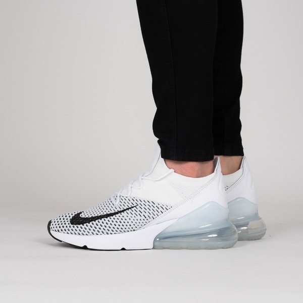 Scarpe da donna sneakers Nike Air Max 270 Flyknit AH6803 100 sneakerstudio-it bianco Pelle