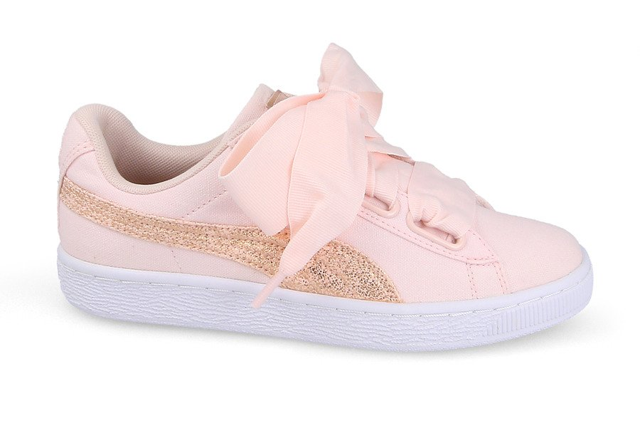 SCARPE DONNA SNEAKERS PUMA BASKET HEART CANVAS 366495 02