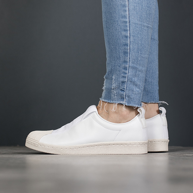 By9139 Bianco Adidas Superstar Bw3s Slip On (Running Bianco
