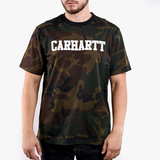 Carhartt College T-Shirt I024772 CAMO EVERGREEN/WHITE