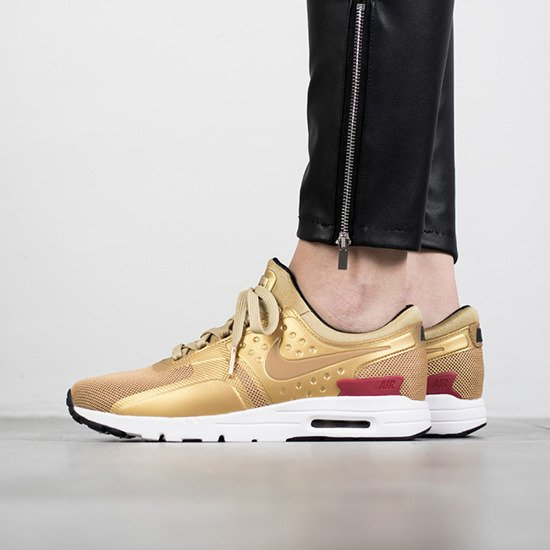 "Scarpe da donna sneakers Nike Air Max Zero Qs ""Metallic Gold"" 863700 700"