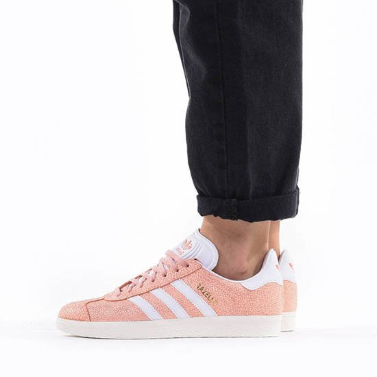 Scarpe da donna adidas Originals Gazelle BZ0023 sneakerstudio-it bianco Pelle