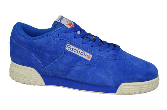 "Scarpe da uomo Reebok Ex-O-Fit Lo Clean Vintage ""Awesome Blue"" BD3389"